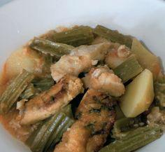Menjars de la muntanya : Guisat de penques i bacallà