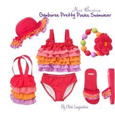 """Gymboree Pretty Posies Swimwear"" by fallinlove82603 on Polyvore"