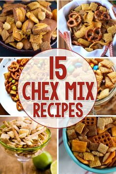 15 Yummy Chex Mix Recipes along with instructions to use slow cooker!