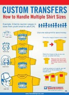 How to Customize Multiple Shirt Sizes