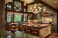 This kitchen is gorgeous!! I would never leave!!
