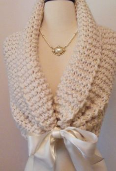 Wedding Shawl/ Hand Knit / Bridal Shawl / by ElegantKnitting, $58.00