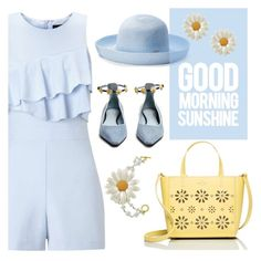 """""""Baby blue sunshine"""" by quicherz ❤ liked on Polyvore featuring Miss Selfridge, Betmar, Fabrizio Viti, Andrew Hamilton Crawford and Kate Spade"""