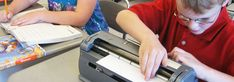 Free book bag with information; National Braille Press