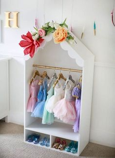 Dress Up Wardrobe, Dress Up Closet, Kids Wardrobe, Wardrobe Closet, Bedroom Wardrobe, Wardrobe Design, Bedroom Inspo, Bedroom Decor, Dress Up Storage
