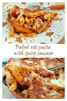 Also known as pasta alla diavola, this baked ziti with hot Calabrian sausage is a great dish for lovers of spicy food! Yummy Pasta Recipes, Spicy Recipes, Italian Recipes, Great Recipes, Dinner Recipes, Recipe Ideas, Noodle Recipes, Delicious Dishes, Delicious Recipes