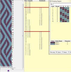 Diseño 10 tarjetas, 2 colores, repite dibujo cada 16 movimientos   // sed_33 ༺❁