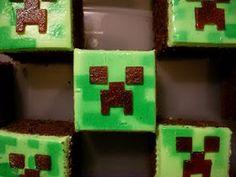 "Candy Bar Cupcakes: Minecraft Cupcakes ""Creeper"""