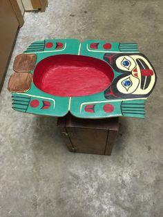 Tlingit frog bowl