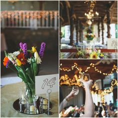 Floral Centerpieces for a Country Wedding