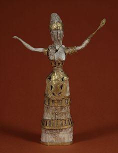 Minoan - Goddess or Priestess - Walters 711090 - Civilização Minoica – Wikipédia, a enciclopédia livre