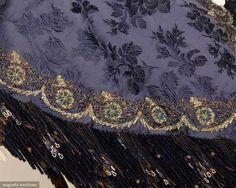 Full-Length Cape (image 5) | France | 1888 | silk jacquard, steel beads | Augusta Auctions | November 13, 2013/Lot 121