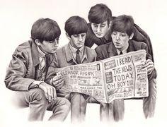 beatles art drawings | wryer:Here is my drawing of The Beatles