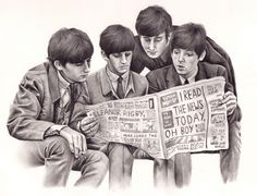 beatles art drawings | wryer:Here is my drawing of The Beatles