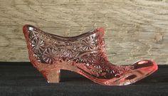 Vintage Fenton Pink Glass Slipper