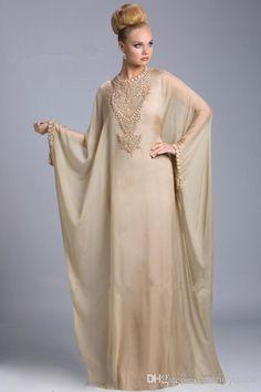 Estilo Árabe Vestidos De Noche Encargo Musulmán De Manga Larga Vestido Maxi De La Celebridad Vestidos De Inspiración 2014 Encargo