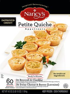 Petite Quiche - 60 ct. (Sam's) - Nancy's Easy Party Food - love these!!!