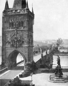 Andreas Groll Old Town Bridge Tower in Prague, 1856 Old Pictures, Old Photos, Prague Photos, Prague Czech Republic, Heart Of Europe, Old Town Square, Old Photography, Old City, Nice View