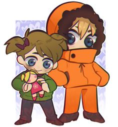Karen and Kenny by Boddbby South Park Characters, Fictional Characters, Kenny South Park, What Is Cute, Stan Marsh, South Park Anime, Park Art, Going Home, Little Sisters