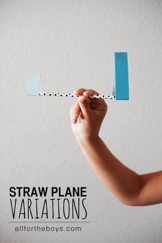 Straw planes made with different shapes. So easy to make out of a straw, paper and tape!