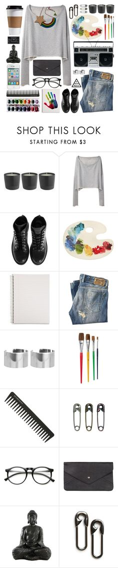 """Si Belle Bijoux ""rainbow necklace"""" by sibellebijoux ❤ liked on Polyvore featuring R13, Kenzo, Fishs Eddy, Mead, Diesel, ASOS, GHD, Tim Holtz, ZeroUV and Double Oak Mills"