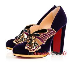 d7cd210bb5ee10 Christian Louboutin Borboleta Chaussures Officiel Basket Pas Cher Pour Femme/Enfant  Noir 3170803M123 - 3170803M123