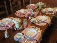 Easter table settings