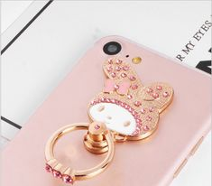 Rabbit iPhone Ring Stand W/ Rhinestone Ring Stand - Samsung Ring Holder - iPhone Ring Case - iPhone Ring Case, Finger Ring - Phone Holder by PetrichorCases on Etsy Ring Stand, Ring Finger, Phone Holder, New Product, Phone Accessories, Professional Group, Smartphone, Iphone Cases, Rings