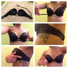 Keep a strapless bra from falling down by securing it with a convertible strap.