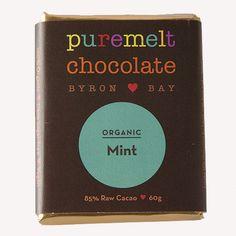 PUREMELT CHOCOLATE Raw Cacao, Shops, Mint, Australia, Bar, Chocolate, Food, Peppermint, Tents