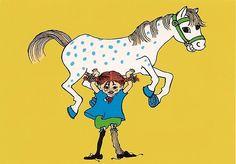 Poster Pippi und Kleiner Onkel - Illustration von Ingrid Vang Nyman