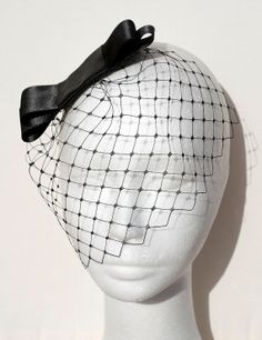 Black veil Audrey Hepburn with double satin by BeChicAccessories, $39.00