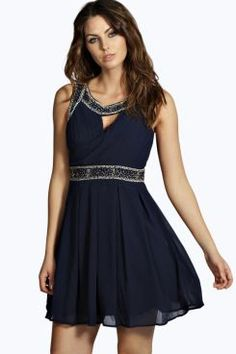 Sally Embellished Cross Front Skater Dress. Grab awesome discounts up to 60% Off at Boohoo using Coupon & Promo Codes.