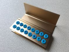3pcs 16 holes Dental FG Bur Burs Disinfection Autoclave Holder Block GOLDEN #Haodental