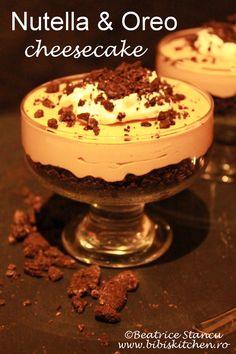 Nutella & Oreo cheesecake | Bibi's Kitchen Oreo Cheesecake, Cheesecakes, Nutella, Tiramisu, Biscuit, Ethnic Recipes, Kitchen, Desserts, Tailgate Desserts