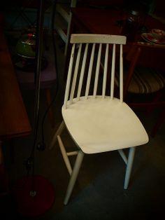 Vintage Fanett chair Ilmari Tapiovaara, 1970s Made in Finland by Asko