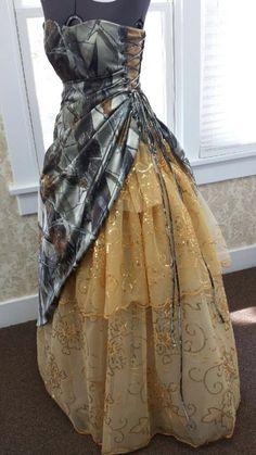 Custom made camo dress for prom❤️❤️❤️
