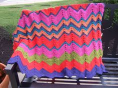 M and W Ripple Blanket -  Afghans Crocheted My Patterns -  - Mama's Stitchery Projects