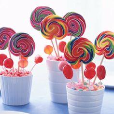 Lollipop center pieces