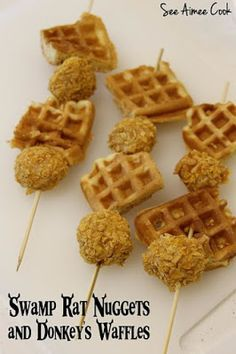 Swamp Rat Nuggets & Donkey's Waffles from Shrek | See Aimee Cook