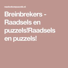 Breinbrekers - Raadsels en puzzels!Raadsels en puzzels! Escape Puzzle, How To Become Smarter, Primary Maths, Escape Room, Brain Teasers, Kraken, Riddles, Team Building, Starters