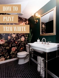 How to Paint Trim White Kitchen Paint Colors, Paint Colors For Living Room, Bathroom Colors, Bathroom Ideas, Paint Doors White, Painted Doors, Basement Layout, Transitional Home Decor, Paint Drop