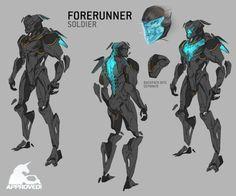 autodestruct — Final model by Kolby Jukes. For freelance. Robot Concept Art, Armor Concept, Game Concept, Alien Design, Robot Design, Character Concept, Character Art, Mode Cyberpunk, V Model