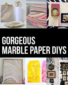 Persia Lou: New Obsession: Marbled Paper