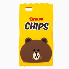 Line Friends Brown Chips Silicone iPhone SE/5/5s Apple Case Skin Cover Yellow #NaverLineFriends