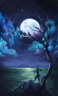 ArtStation - Moonlight, Mariana Livraes