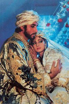 Amitabh Bachchan and Sridevi Indian Aesthetic, Bollywood Heroine, Hindi Actress, Vintage Bollywood, Amitabh Bachchan, Indian Movies, Insta Pic, Character Inspiration, Princess Zelda