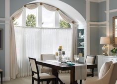 Sheer Drapes on Arches