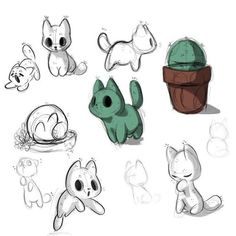 Character Design References - Character Design References Cdr Is A Webzine Dedicated To The Art Of Animation Video Games Comics And Illustration And Its The Largest Community Of Character Designers On The Intern Cute Animal Drawings, Animal Sketches, Cute Drawings, Drawing Sketches, Character Design References, Character Art, Fantasy Character, Game Character Design, Character Sketches