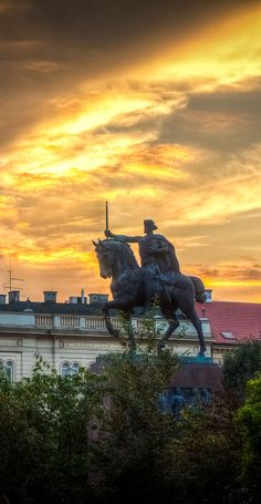 Statue of King Tomislav in Zagreb, Croatia. | Did you know that Croatia was once a kingdom?